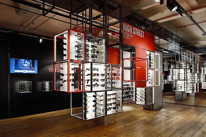 Ray ban ouvre un concept store connect vos r seaux for Miroir virtuel lunettes