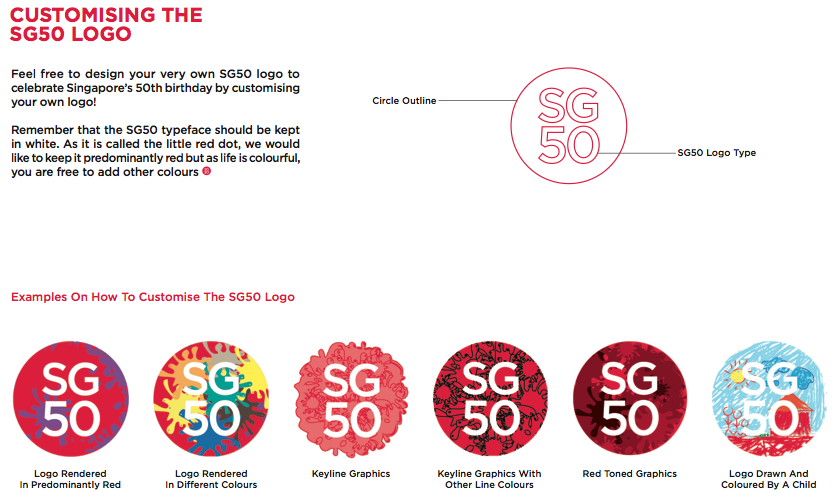 SG50 logo customize
